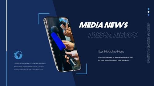 뉴스 미디어 현황 (News Media) 템플릿 - 섬네일 40page