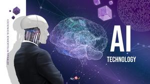 AI Technology 인공지능 파워포인트 template
