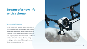드론 (Drone) 프레젠테이션 템플릿