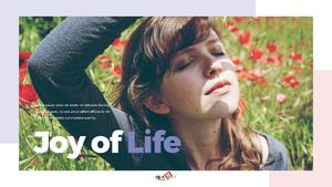 Joy of Life Presentation템플릿 16:9