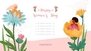 세계 여성의 날 템플릿 16:9