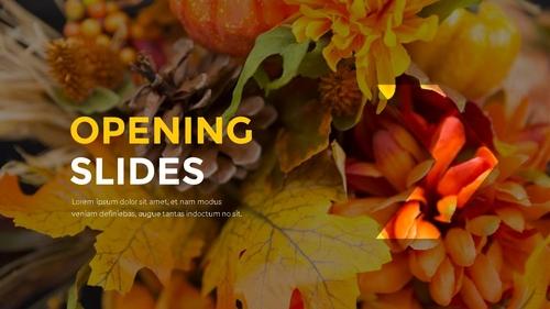 추수감사절(Thanksgiving Day) 템플릿 - 섬네일 3page
