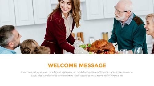 추수감사절(Thanksgiving Day) 템플릿 - 섬네일 4page