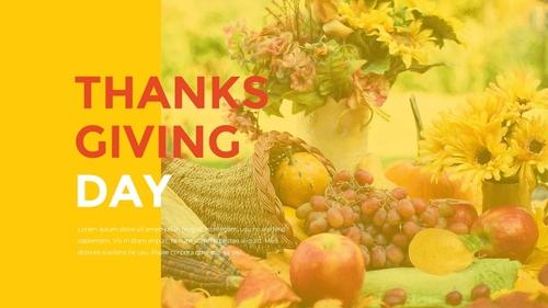 추수감사절(Thanksgiving Day) 템플릿 - 섬네일 12page