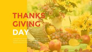 추수감사절(Thanksgiving Day) 템플릿 #12