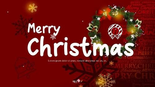크리스마스 (Merry Christmas) 파워포인트 - 섬네일 1page