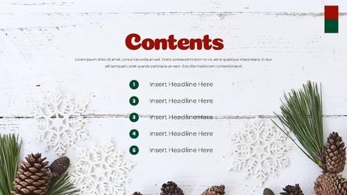 크리스마스 선물 파워포인트 프레젠테이션 - 섬네일 2page