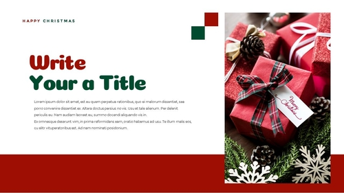 크리스마스 선물 파워포인트 프레젠테이션 - 섬네일 7page