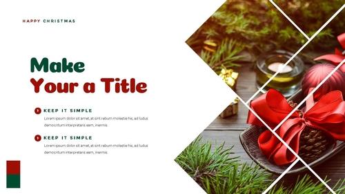 크리스마스 선물 파워포인트 프레젠테이션 - 섬네일 9page