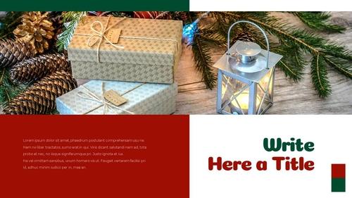 크리스마스 선물 파워포인트 프레젠테이션 - 섬네일 12page