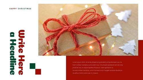 크리스마스 선물 파워포인트 프레젠테이션 - 섬네일 17page