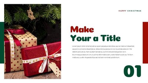 크리스마스 선물 파워포인트 프레젠테이션 - 섬네일 18page