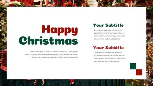크리스마스 선물 파워포인트 프레젠테이션 - 섬네일 22page