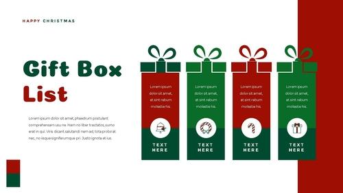 크리스마스 선물 파워포인트 프레젠테이션 - 섬네일 37page