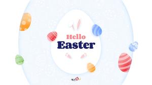 Hello Easter 부활절 파워포인트 템플릿 #1