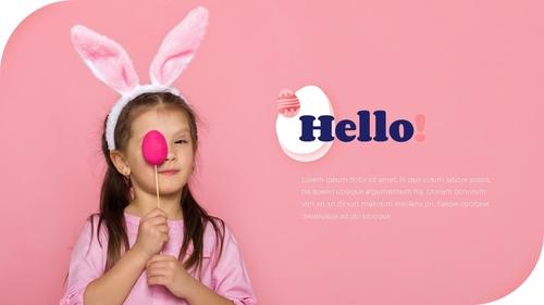 Hello Easter 부활절 파워포인트 템플릿 - 섬네일 2page