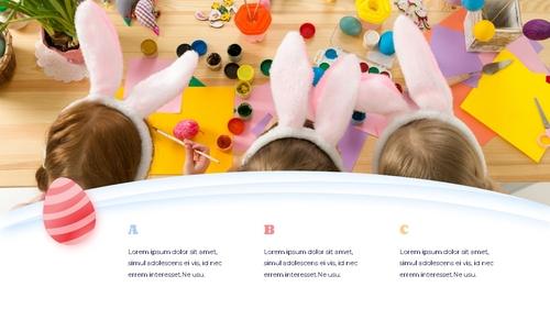 Hello Easter 부활절 파워포인트 템플릿 - 섬네일 4page