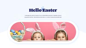 Hello Easter 부활절 파워포인트 템플릿 #22
