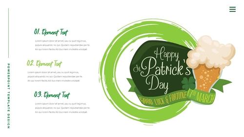 성 패트릭 데이 (St. Patricks Day) 템플릿 - 섬네일 9page