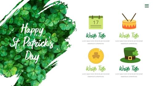 성 패트릭 데이 (St. Patricks Day) 템플릿 - 섬네일 10page