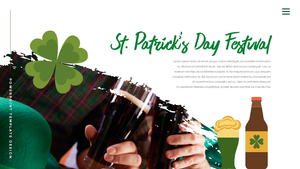 성 패트릭 데이 (St. Patricks Day) 템플릿 #16