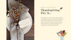 Thanksgiving Day (추수 감사절) PPT 템플릿