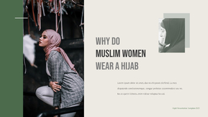 Hijab (히잡) PPT template