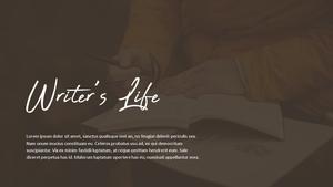 Writer (작가) PPT template