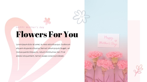 Happy Mothers day 프레젠테이션 템플릿 - 섬네일 2page