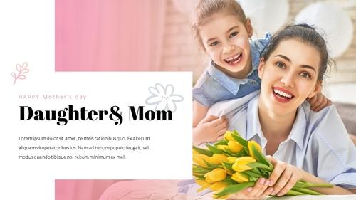 Happy Mothers day 프레젠테이션 템플릿 - 섬네일 6page