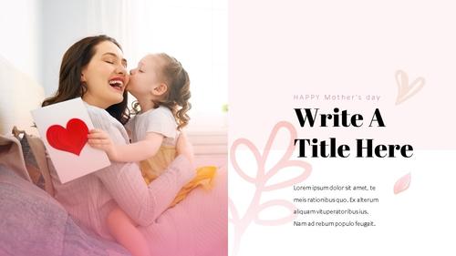 Happy Mothers day 프레젠테이션 템플릿 - 섬네일 9page