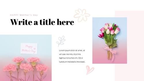 Happy Mothers day 프레젠테이션 템플릿 - 섬네일 24page