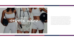 여성 스포츠웨어 PPT 프레젠테이션