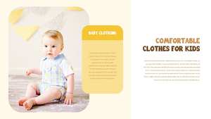 아기와 패션 PowerPoint 프레젠테이션