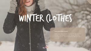 겨울 패션 winter clothes 와이드 ppt