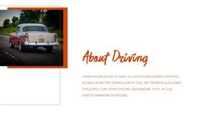 Driving (드라이빙) PPT template