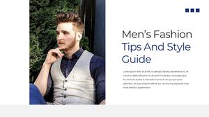 남성 패션 (Mens Fashion) 템플릿 #2
