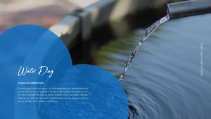 세계 물의 날 파워포인트 템플릿