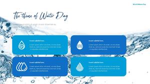세계 물의 날 파워포인트 템플릿 #10