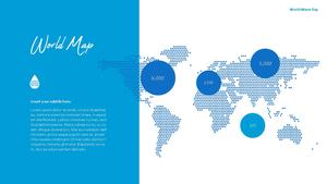 세계 물의 날 파워포인트 템플릿 #38