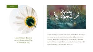 봄의 노래 (Spring Song) PPT 16:9