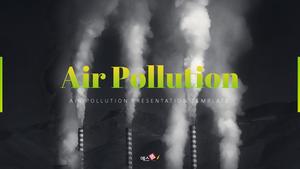 대기오염 Air pollution template