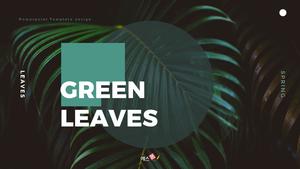 Green Leaves ppt 템플릿