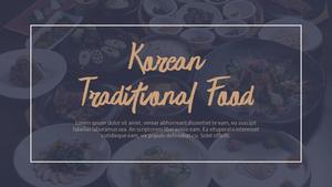 한국 전통 음식(Korean food) 와이드형 피피티 템플릿 #2