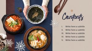 한국 전통 음식(Korean food) 와이드형 피피티 템플릿 #3