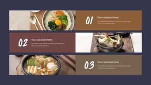 한국 전통 음식(Korean food) 와이드형 피피티 템플릿 #8