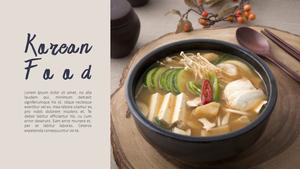 한국 전통 음식(Korean food) 와이드형 피피티 템플릿 #9