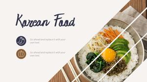 한국 전통 음식(Korean food) 와이드형 피피티 템플릿 #11