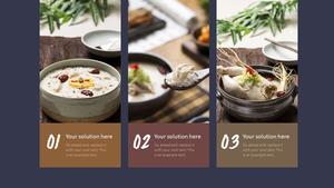 한국 전통 음식(Korean food) 와이드형 피피티 템플릿 #12