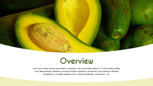 Avocado (아보카도) 16:9 파워포인트